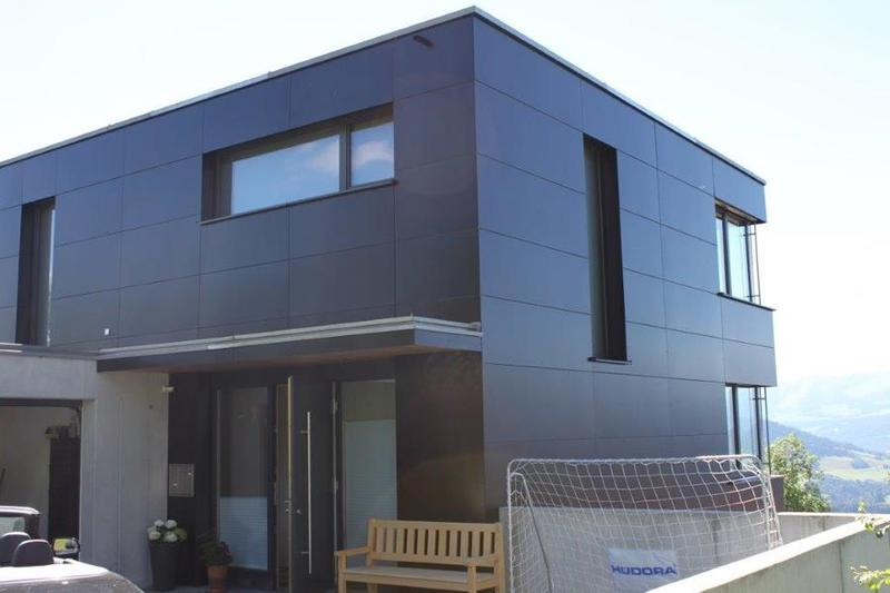 Hpl Platten Fassade anwendungen / referenzen / referenzen / einfamilienhaus kaindl in
